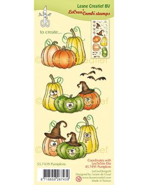 Leane Creatief 557439 – Combi clear stamp Pompoenen