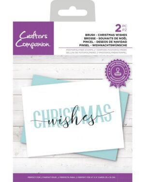 Crafter's Companion Brush Christmas Wishes Clear Stamps (CC-STP-BCWIS)