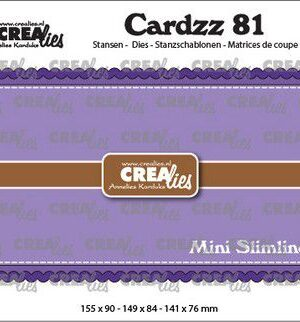 Crealies Cardzz no 81 Mini Slimline A