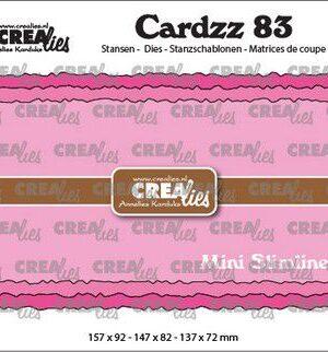 Crealies Cardzz no 83 Mini Slimline C ruwe randen