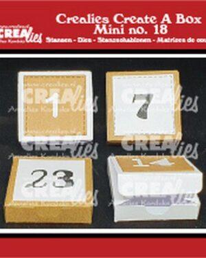 Crealies Create A Box Mini no. 18 Adventsdoosje met cijfers CCABM18