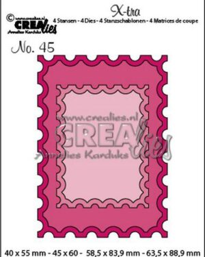 Crealies Xtra ATC postzegel + kleine postzegel CLXtra45