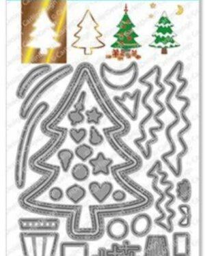 CarlijnDesign Snijmallen Outline Kerstboom (CDSN-0113)