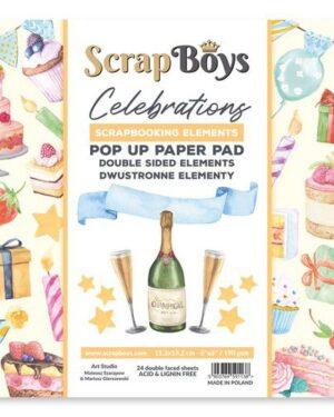 Scrapboys POP UP Paper Pad – Celebrations