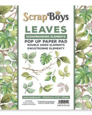 Scrapboys POP UP Paper Pad – Leaves