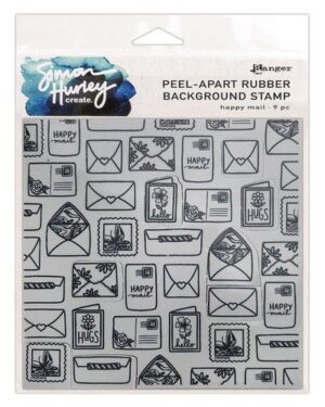 Ranger SH Cling Rubber Background Stamp 6×6 Happy Mail