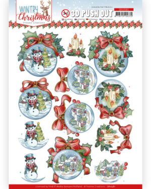 3D Push Out – Yvonne Creations – Wintry Christmas – Christmas Baubles