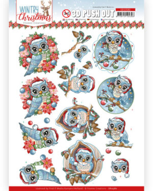 3D Push Out – Yvonne Creations – Wintry Christmas – Christmas Owls
