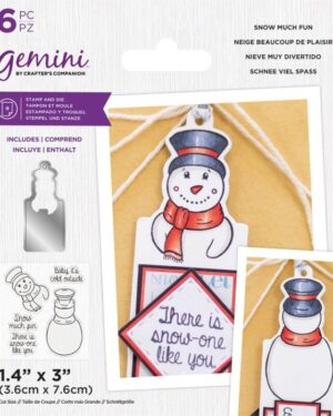 Gemini Snow much Fun Stamp & Die
