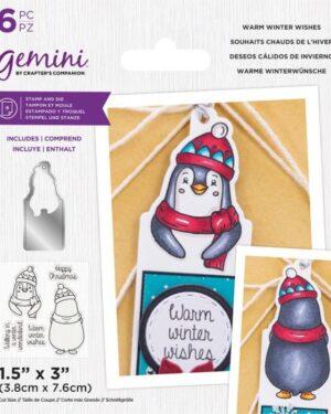 Gemini Warm Winter Wishes Stamp & Die